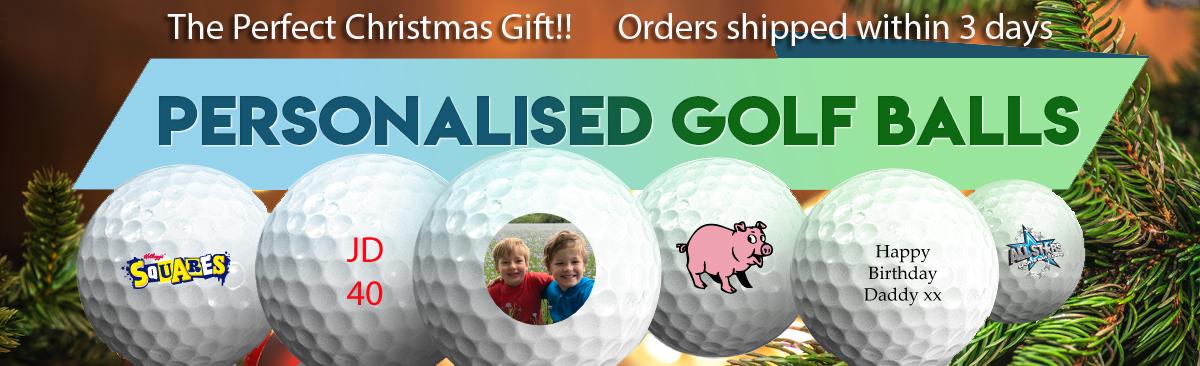 Personalised golf balls - printed full colour