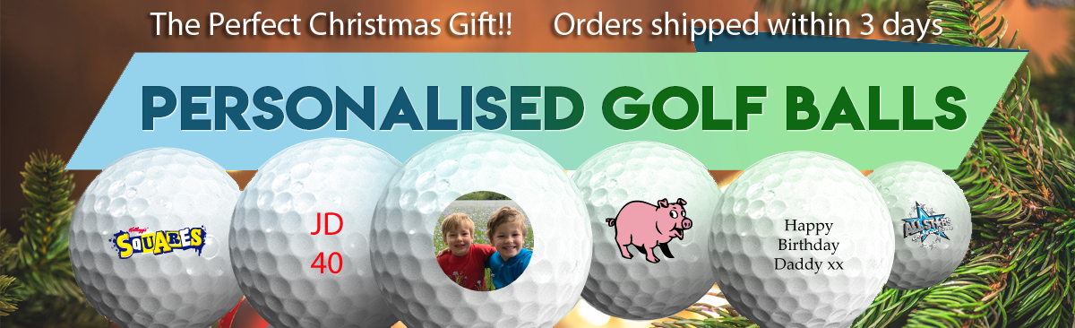 Personalised golf balls for Christmas