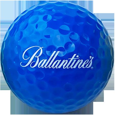 Blue logo golf balls