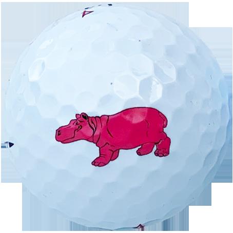 Logo golf balls 2 colour2
