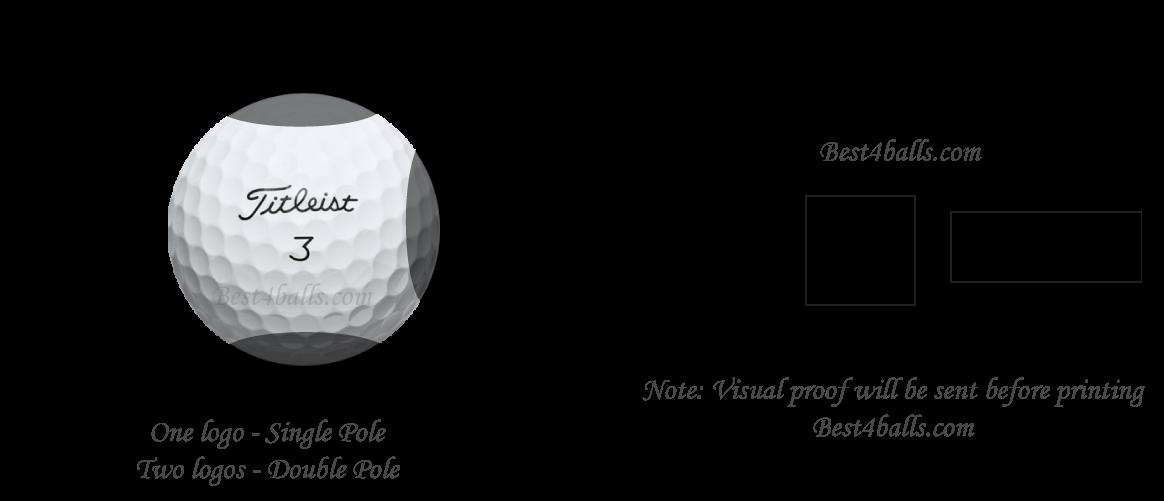 logo print area for golf balls
