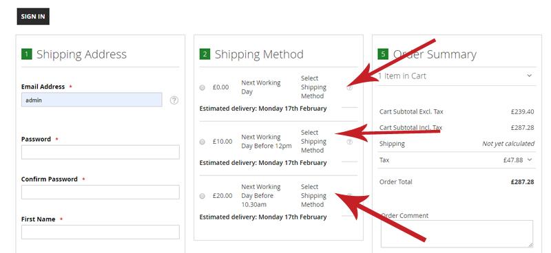 Logo ball shipping options