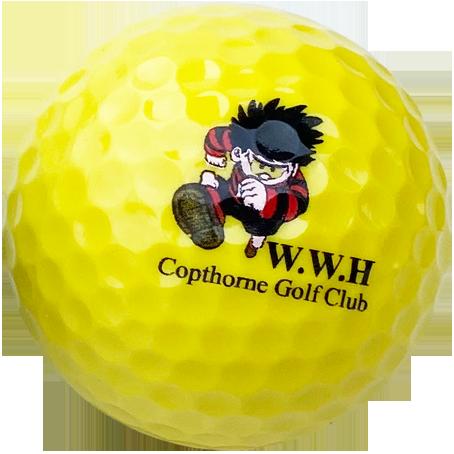 Yellow logo balls