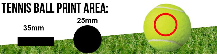 Tennis Ball Print Area